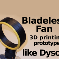 Small Bladeless Fan -  Prototype 3D Printing 134510