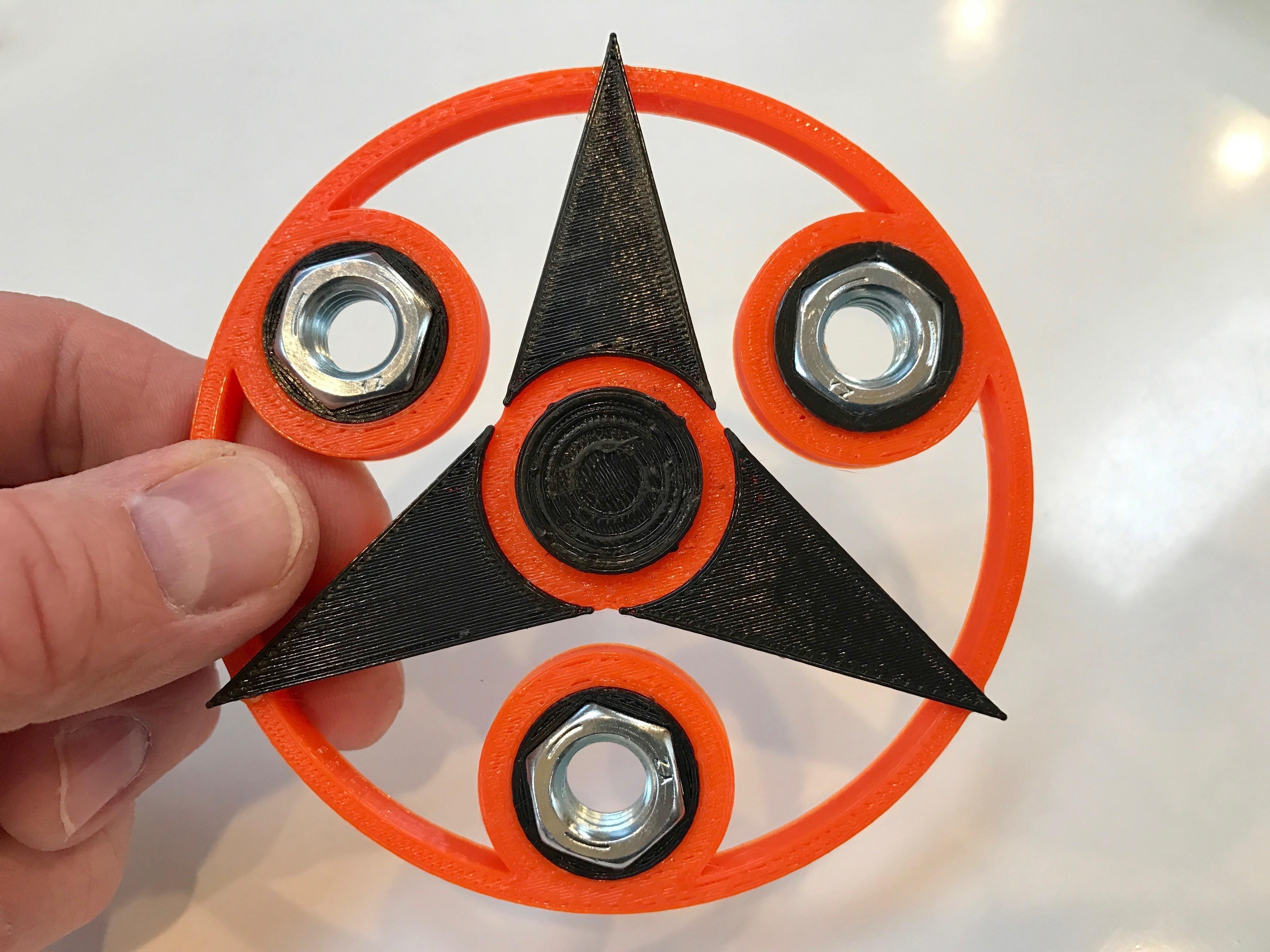 Tri Star Fidget Spinners Set of 5