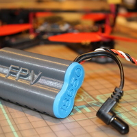 Small Fatshark 18650 FPV battery case 3D Printing 134720