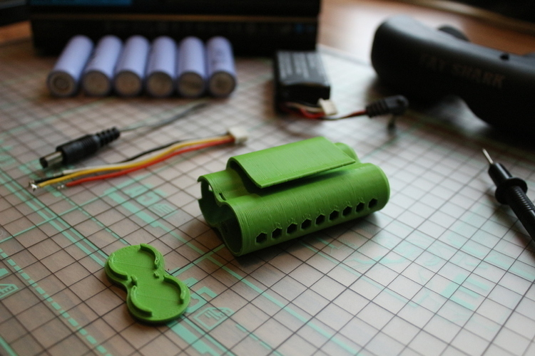 Fatshark 18650 FPV battery case 3D Print 134723