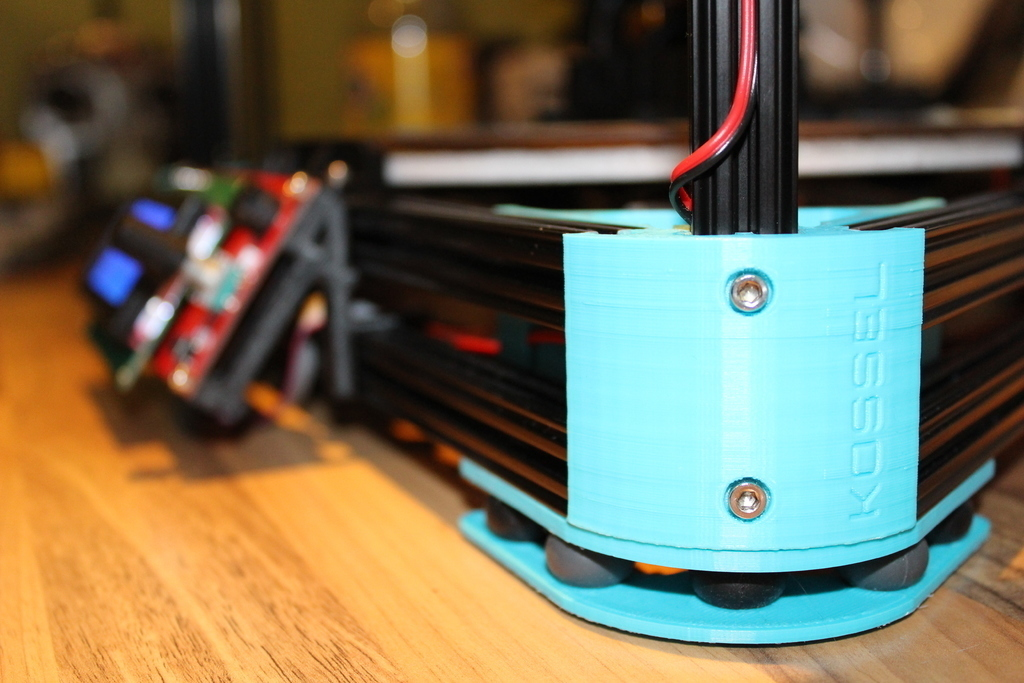 Vibration In Foot >> 3d Printed Kossel Xl Anti Vibration Foot By Oeve Pinshape