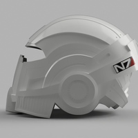 Small Mass Effect N7 Breather Helmet 3D Printing 134766