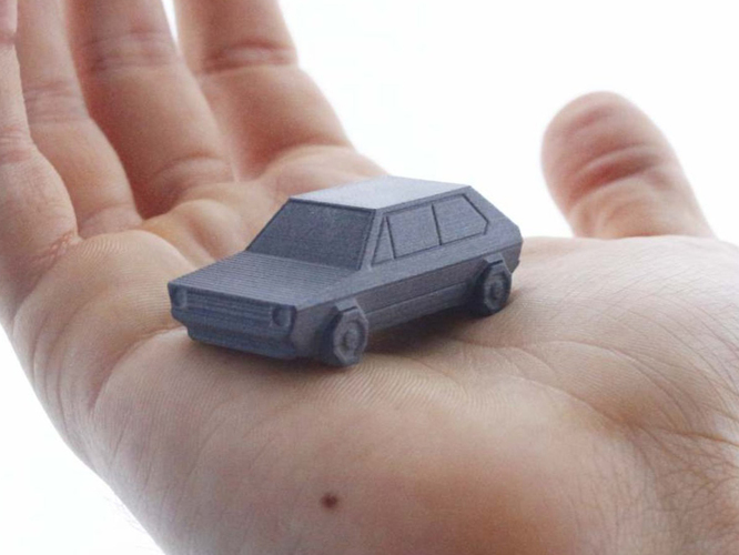 Volkswagen Golf GTI - Low Poly Miniature 3D Print 134772