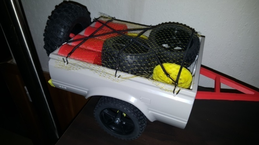 RC4WD Mojave Crawler Scaler Trailer Truck Chassis Trailer Hitch 3D Print 134801