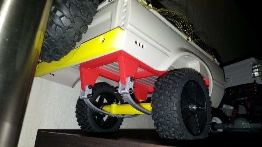 RC4WD Mojave Crawler Scaler Trailer Truck Chassis Trailer Hitch 3D Print 134803