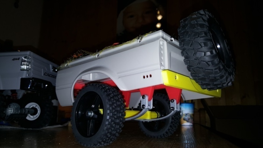 RC4WD Mojave Crawler Scaler Trailer Truck Chassis Trailer Hitch 3D Print 134805