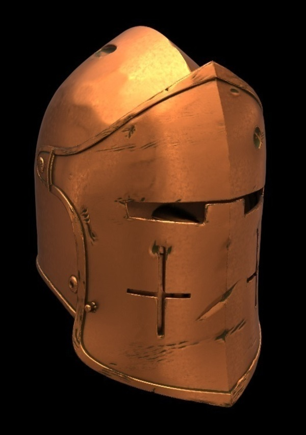 Medium For Honor Warden Helm - Knight 3D Printing 134827