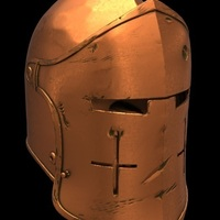 Small For Honor Warden Helm - Knight 3D Printing 134827