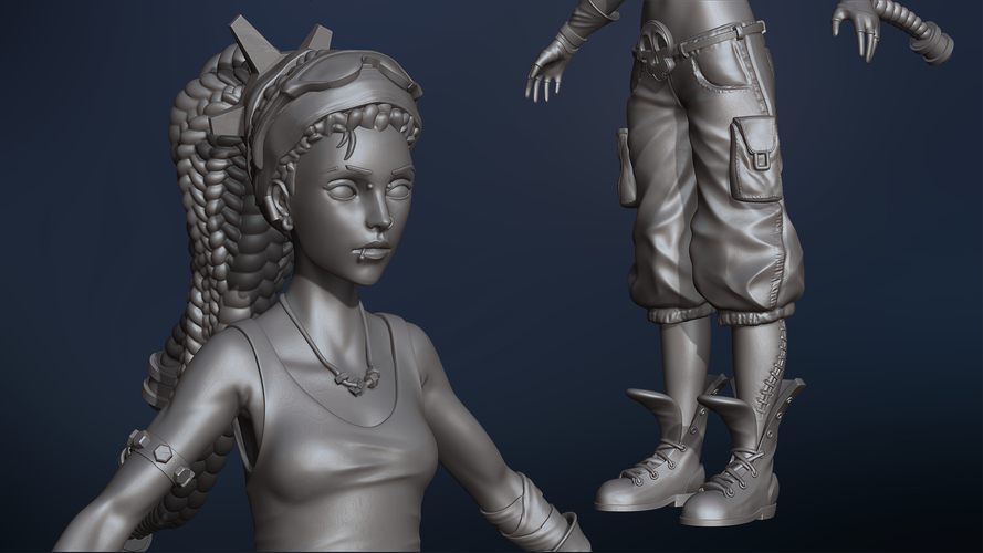 Molly the Punk 3D Print 134848