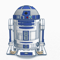 Small R2-D2 3D Printing 134866