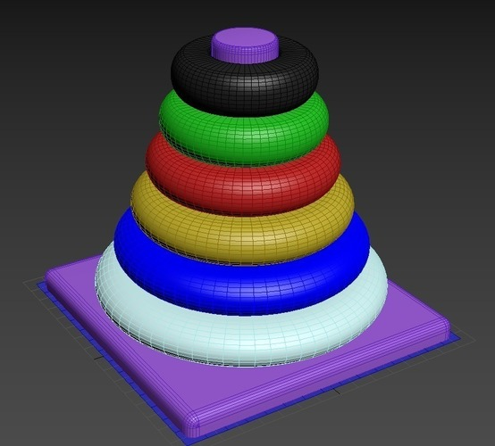 Ring Stacker for Babies 3D Print 134909