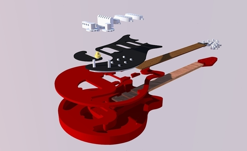 Brian May's red special in scale 1:4 3D Print 134928