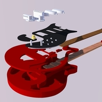 Small Brian May's red special in scale 1:4 3D Printing 134928