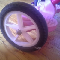 Small tricycle spare wheel. 3D Printing 134955