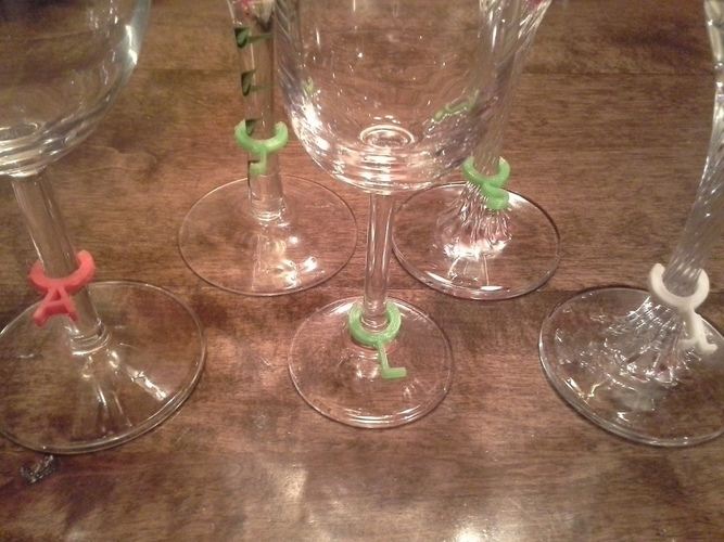Wine glass markers 3D Print 134995