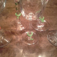 Small Wine glass markers 3D Printing 134995
