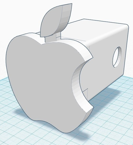 Apple Hitch Cover 3D Print 135045