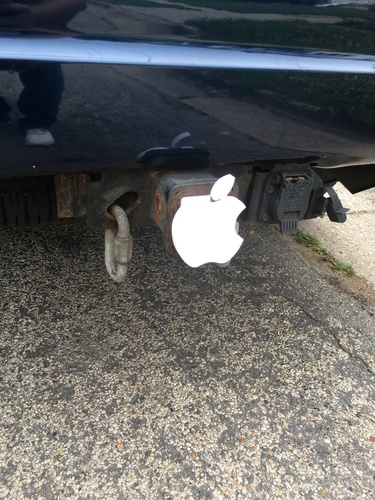 Apple Hitch Cover 3D Print 135046