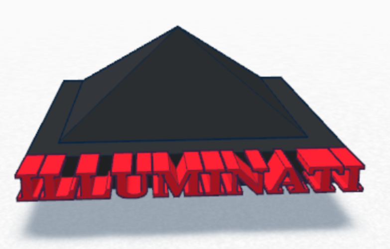 Mini Illuminati pyramid 3D Print 135053