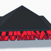 Small Mini Illuminati pyramid 3D Printing 135053