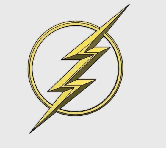 The CW The Flash Chest Emblem 3D Print 135073