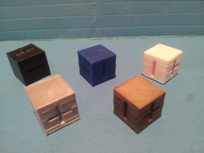 Basic Fate / Fudge Dice 3D Print 135158