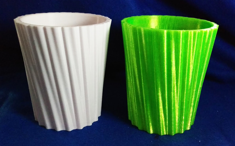 Simple Stripy Pot Holder - with hole 3D Print 135221