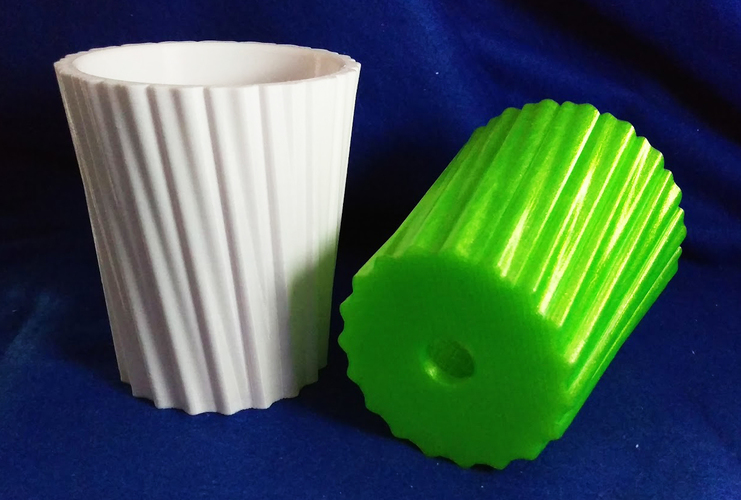 Simple Stripy Pot Holder - with hole 3D Print 135222