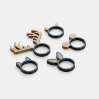 Small Animal Ring Collection - Dual extrusion version 3D Printing 135229