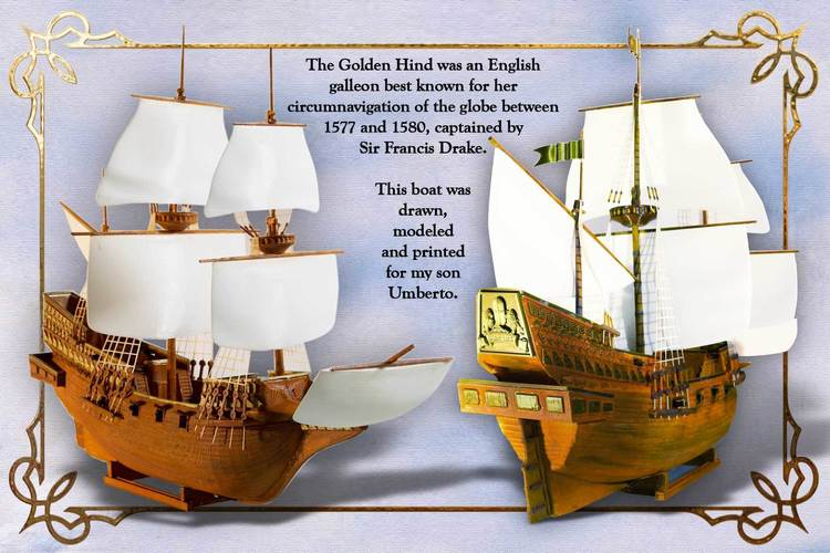 The Golden Hind 3D Print 135265