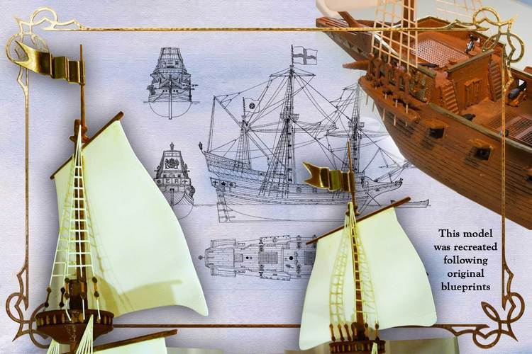 The Golden Hind 3D Print 135266