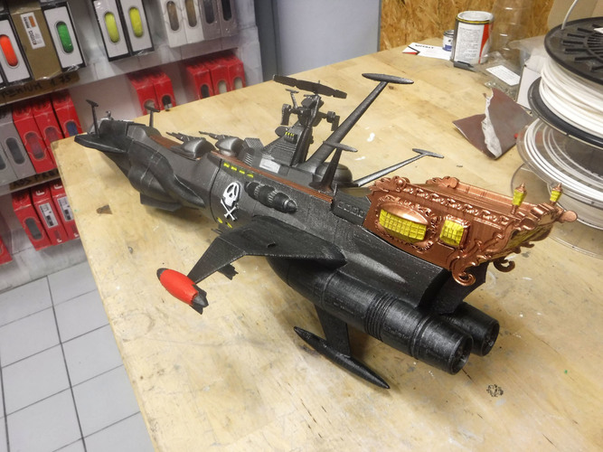 ALBATOR / ARCADIA '78 of Capitan Harlock Full assembly KIT 3D Print 135289