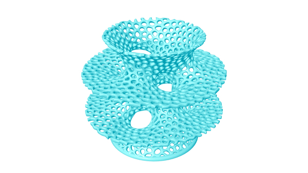Medium Voronoi Costa Big Vase 3D Printing 13542