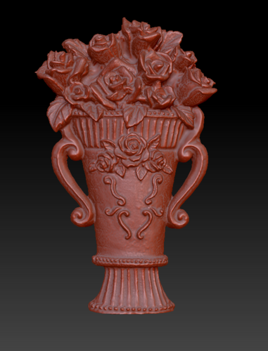 Vase with roses 3D Print 135554