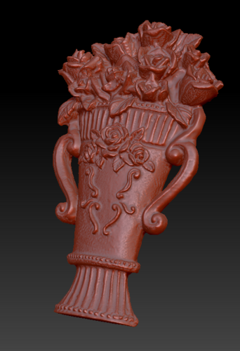 Vase with roses 3D Print 135555