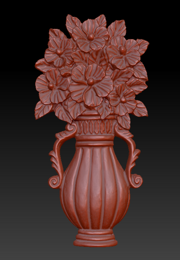 Medium Vase with Flowers 3D Printing 135558