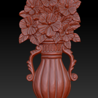 Small Vase with Flowers 3D Printing 135558