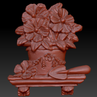 Small Pot of flowers on a shelf 3D Printing 135561
