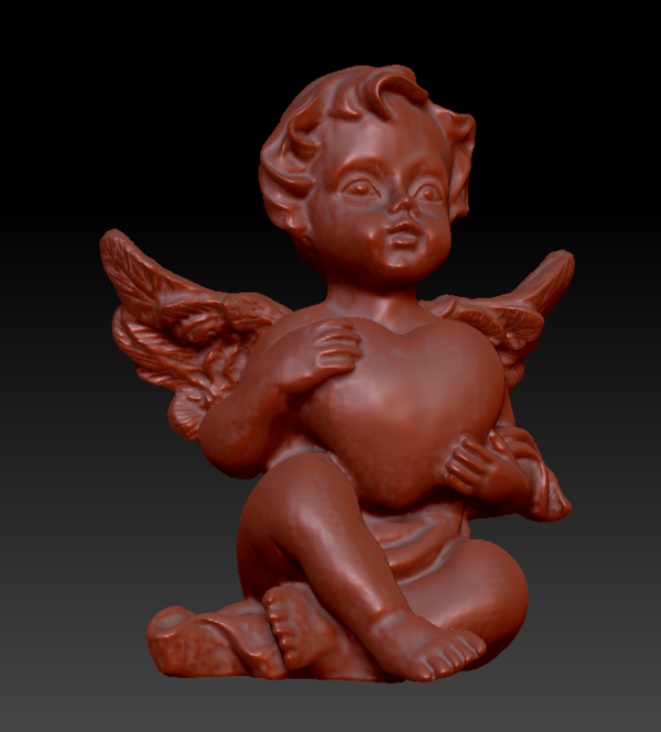 Medium Angel with heart 3D Printing 135563