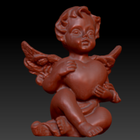 Small Angel with heart 3D Printing 135563
