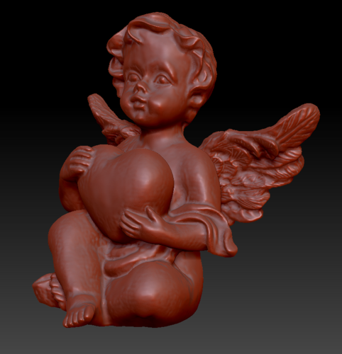 Angel with heart 3D Print 135566