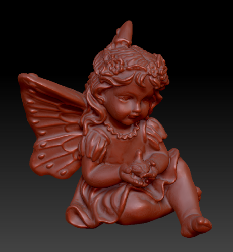 Fairy with a dove in his hands 3D Print 135576