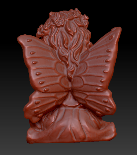 Fairy with a dove in his hands 3D Print 135577