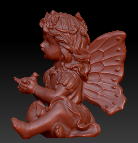 Fairy with a dove in his hands 3D Print 135578