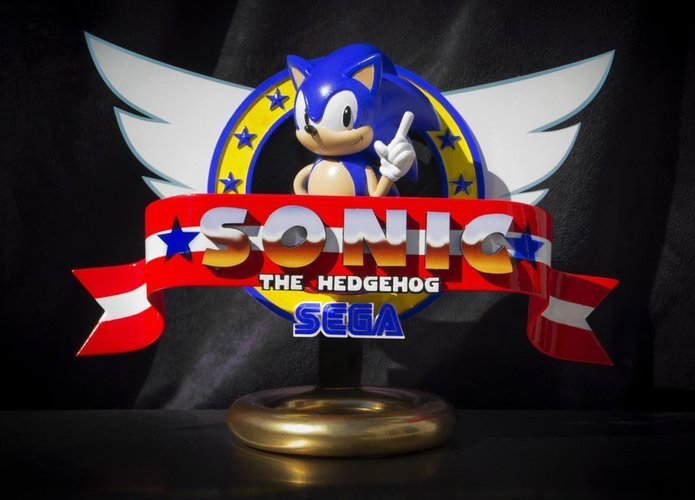 Sonic the Hedgehog! (with Logo) 3D Print 135618