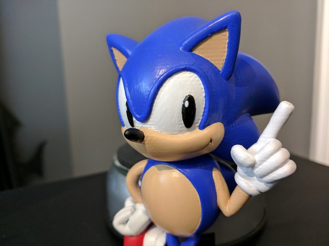 Sonic the Hedgehog! (with Logo) 3D Print 135621