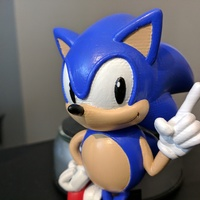 Small Sonic the Hedgehog! (with Logo) 3D Printing 135621