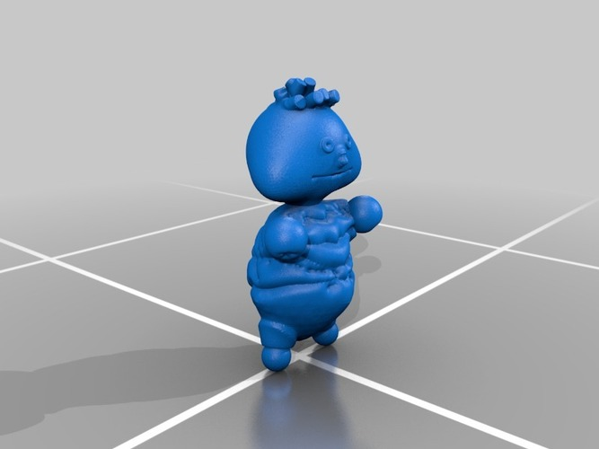 ernie, bert and cookie monster from sesame street 3D Print 13567