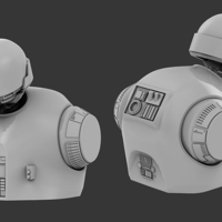 Small K-2SO Bust Model 3D Printing 135670