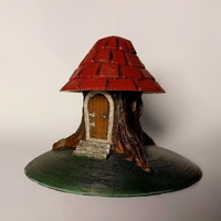 Small Tree stump house 3D Printing 135768